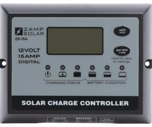 Zamp Digital Deluxe Solar Charge Controller 15 Amp