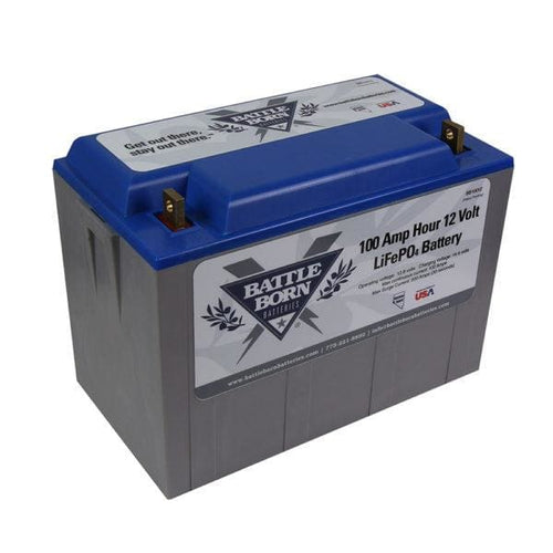 Battle Born 100 ah 12v LiFePO4 Deep Cycle Battery - Batteries
