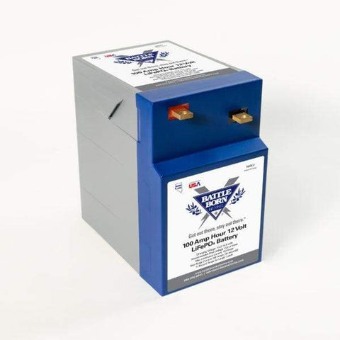 Battle Born 100Ah 12V GC2 LiFePO4 Deep Cycle Battery - Batteries