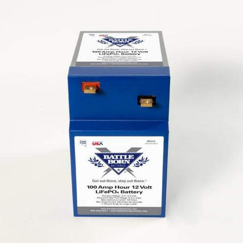 Battle Born 100Ah 12V GC2 LiFePO4 Deep Cycle Battery – Back