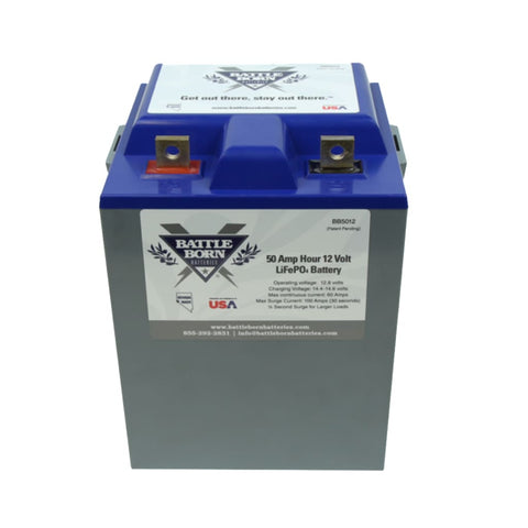 Battle Born 50 ah 12v LiFePO4 Deep Cycle Battery - Batteries