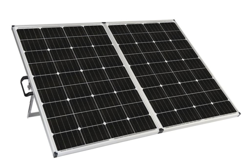 Zamp 230 Watt Portable Solar Charging System Back