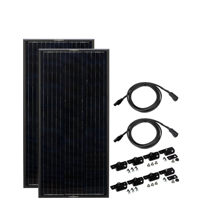 Obsidian Series by Zamp Solar 2x45 Watt Solar Panels