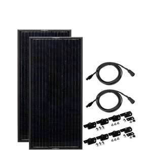 Obsidian Series 2x45 Watt Solar Panels Complete Kit
