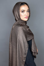 Mocha Brown Silk Scarf
