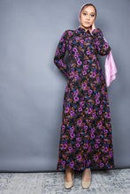 Shades of Purple Floral Maxi Dress