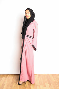 Gallerina Full Length Maxi Cardigan in Pink with Pockets