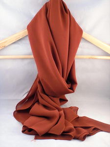 Gallerina Plain Bronze Orange Hijab in Georgette Chiffon