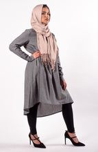 Light Grey Hi Low Flare Tunic