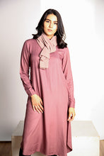Gallerina Mauve Midi Modest Tunic in Rayon