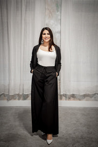 Onyx Black Wide Leg Pants