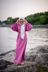 Deep Orchid Pink Silk/Satin Dress