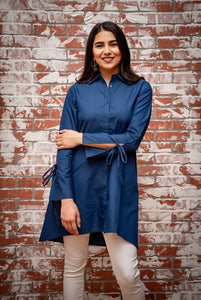 Denim Navy Tie Up Tunic
