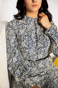 Printed Navy Tunic