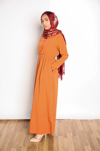 Sandstone Orange  Maxi Dress