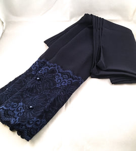 Navy Blue Lace Pearl