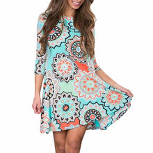 Vintage Boho Dress 2017 Fashion Womens Summer Autumn Evening Party Vestidos De Festa Beach Floral Dress