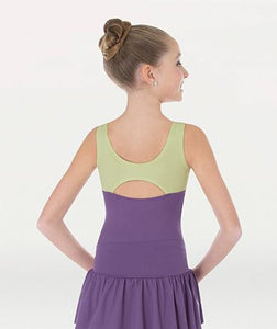 Girls Two tone Tank Leotard 2260
