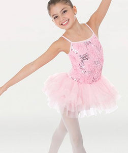 Child Sequin Rose Camisole TuTu Dress 2289