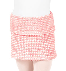 Girls Thermal Knit Warm Up Skirt 3394