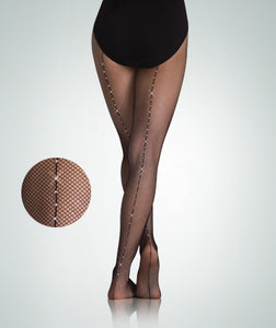 Fishnet Tights With Rhinestone A64/C64