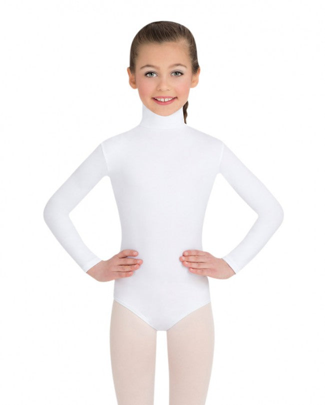 Body Wrappers Girls Long Sleeve Turtleneck Leotard