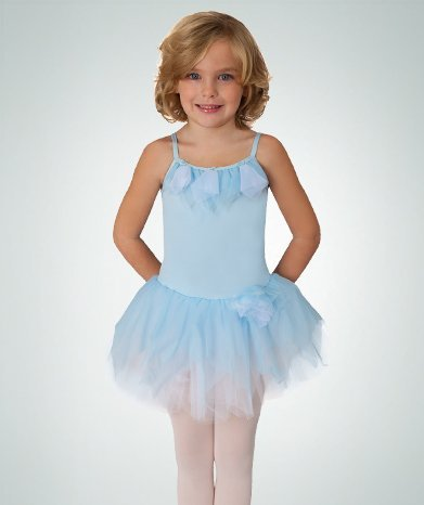 Princess Aurora Microfiber Ruffle Neck Camisole Skirted Leotard