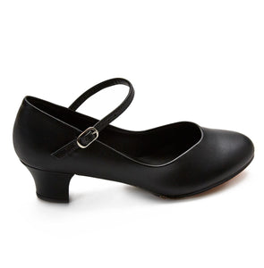 "Women 1.5"" Heel Leather Character Shoe"