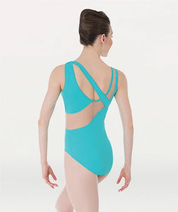 Body Wrappers Mesh Trimmed Tank Leotard-