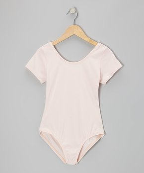 Children's short sleeve nylon leotard