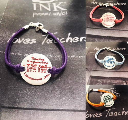 INK Loves Teachers - BRACCIALE CON CORDINO