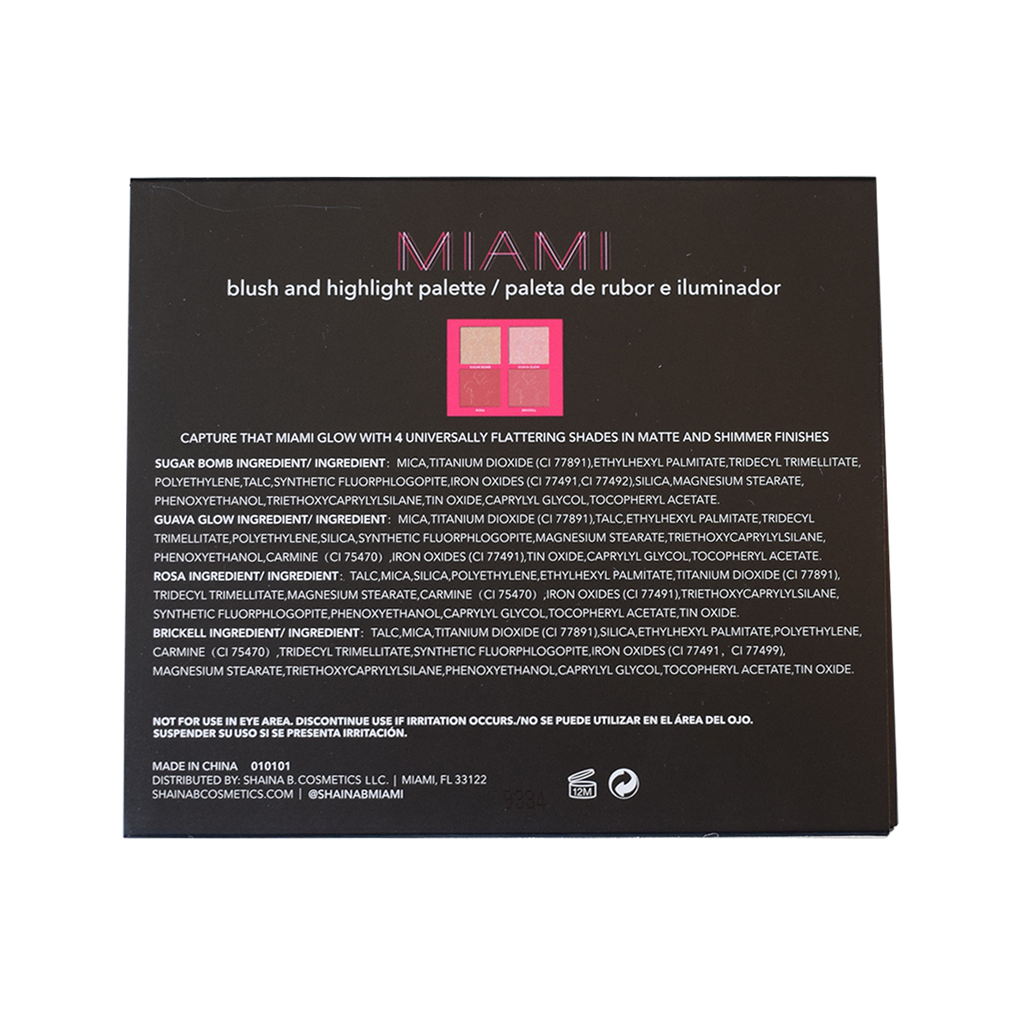 Miami Mini Palette - Blush and Highlight