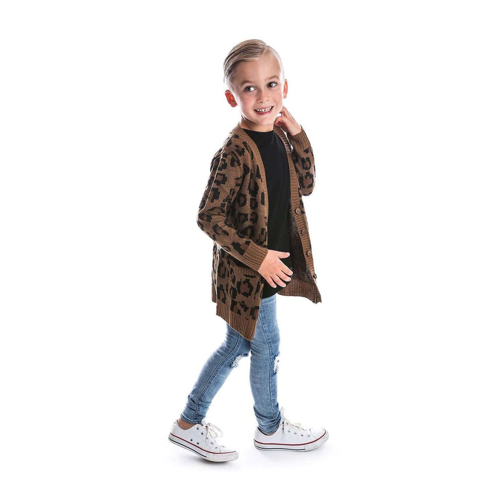 Beau Hudson Chunky Leopard Cardigan for Kids