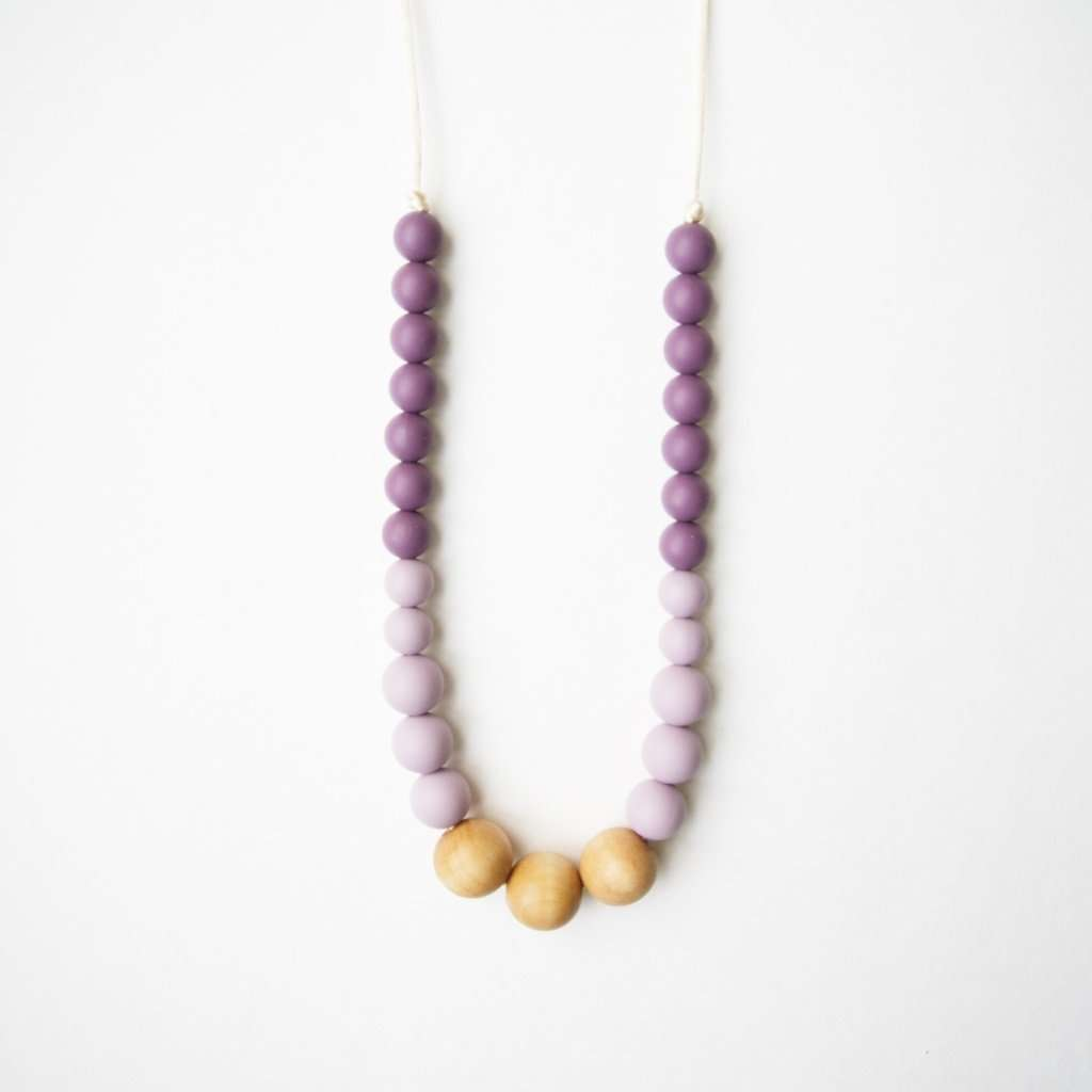 Loulou Lollipop Silicone and Wood Teething Necklaces