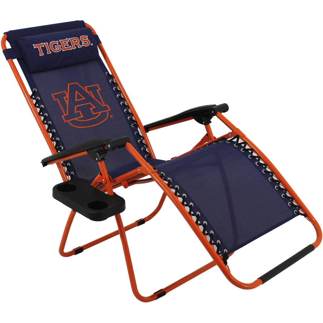 Auburn Tigers Zero Gravity Chair Lounge Lawn Patio Furniture Football College Co Home - FruitPaunch Gifts