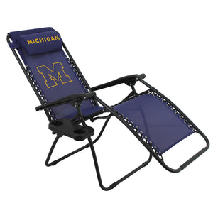 Michigan Wolverines Football Zero Gravity Chair College Covers Lounge Patio Lawn Furniture