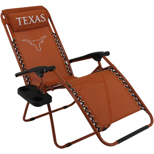 Texas Longhorns Football Zero Gravity Chair College  Lounge Patio Lawn Furniture