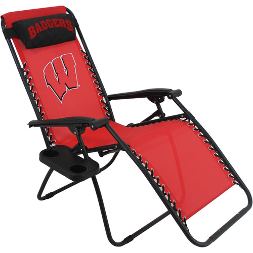 Wisconsin Badgers Football Zero Gravity Chair College Covers Lounge Lawn Patio Furniture