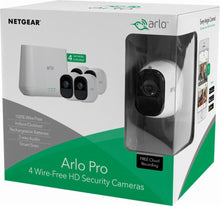 Smart Home Wireless Security Camera System (4 Cameras Pack) - Arlo Pro Indoor/Outdoor HD White - FREE Shipping