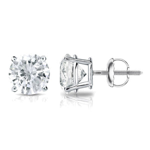 Diamond Solitaire Stud Earrings 14k Gold 1/2ct TDW Round Women Jewelry - FruitPaunch Gifts