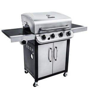 Gas Grill BBQ Char Broil 3600 4 Burner Barbecue Steel Side Burner Smoker Outdoor Home