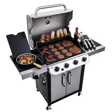 Gas Grill BBQ Char Broil 3600 4 Burner Barbecue Steel Side Burner Smoker Outdoor Home - FruitPaunch Gifts