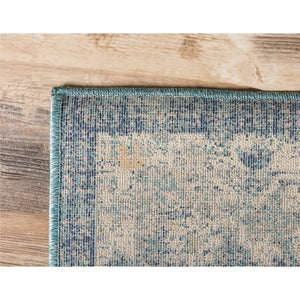 Area Rug 5' x 8' Navy Blue/Beige Medallion Design Copenhagen Carpet Shed-Free Home - FruitPaunch Gifts