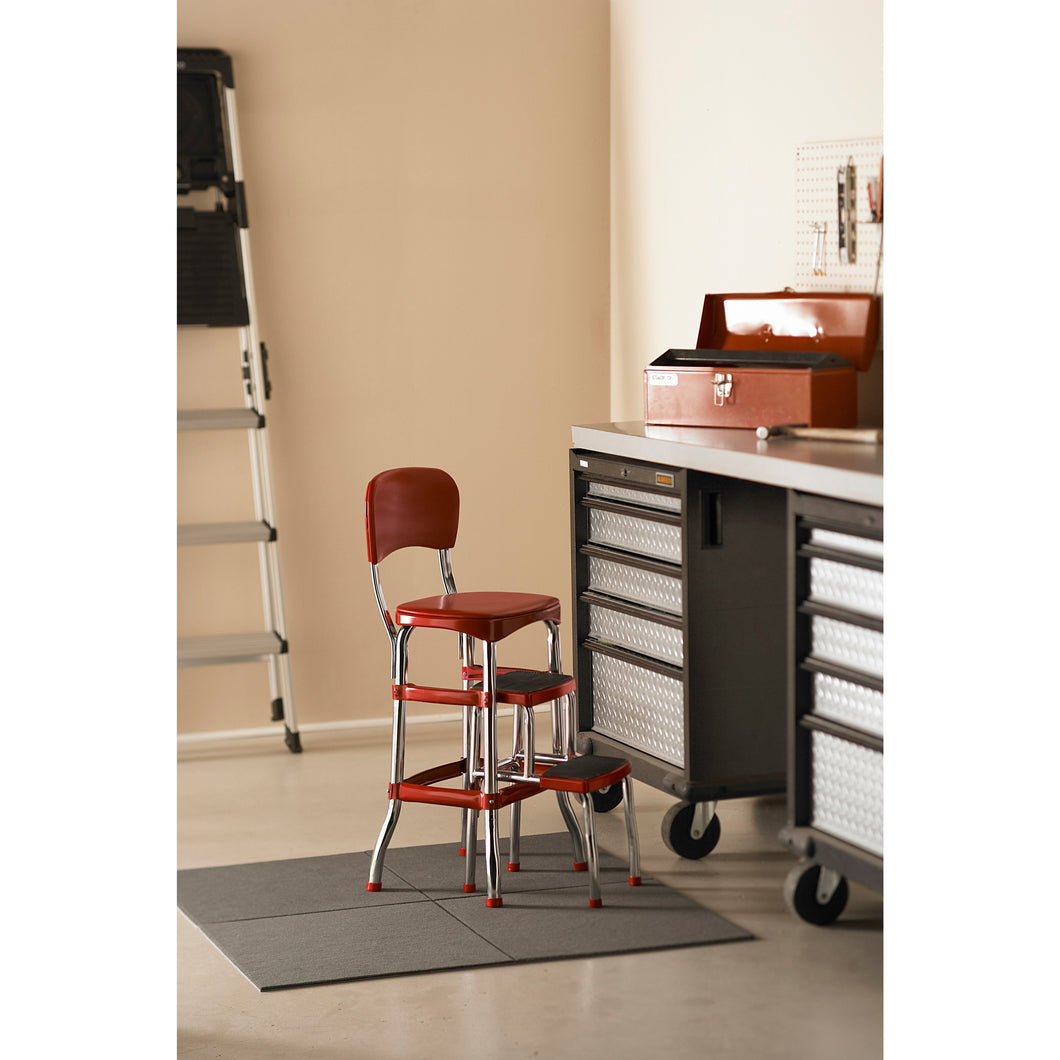 Counter Stool Bar Table Step Stool Kitchen Pub Easy Clean Chair Retro Folding Kids