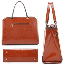 Women's Briefcase/Satchel w/Matching Wallet Dasein Rolled Handle Croco Many Colors