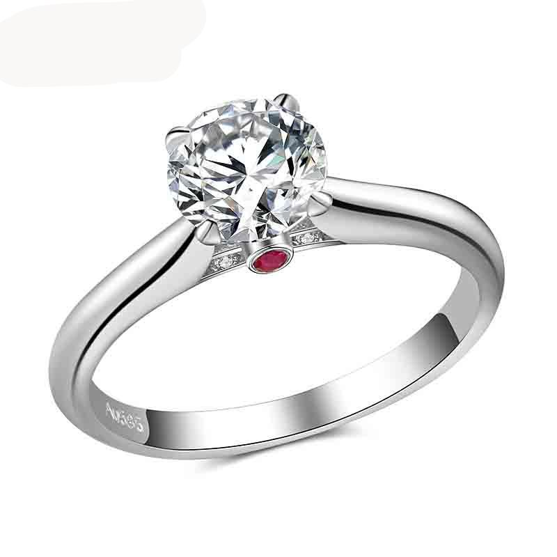 sale view in centre petite engagement louise cluster rings ring canada ann tw