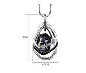 Pendant Necklace Crystal Women Large Geometric Pendant Long Chain Free Shipping