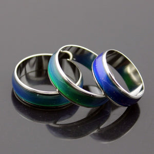 Men's Rings For Sale - Mood Ring Stainless With Changing Color - Feeling / Emotion Temperature Ring