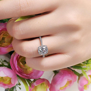 CZ Silver Engagement Ring Women Size 5,6,7,8,9 - Fashion Jewelry Free Shipping