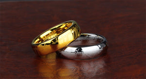 Men's Rings, Classic 100% Tungsten Wedding Band,  316l Stainless Steel Jewelry - FruitPaunch Gifts